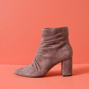 1.State Saydie Pointed Toe Suede Ruching Boot